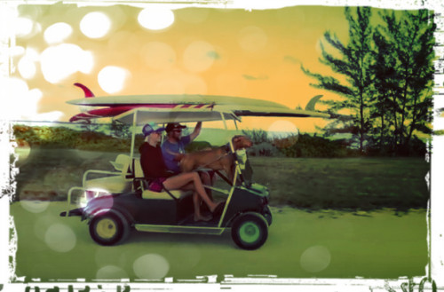 Golf cart crusing