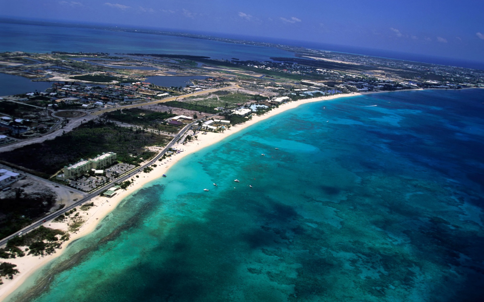 grand cayman aerial photo